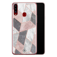 Casimoda Samsung Galaxy A20s siliconen telefoonhoesje - Stone grid