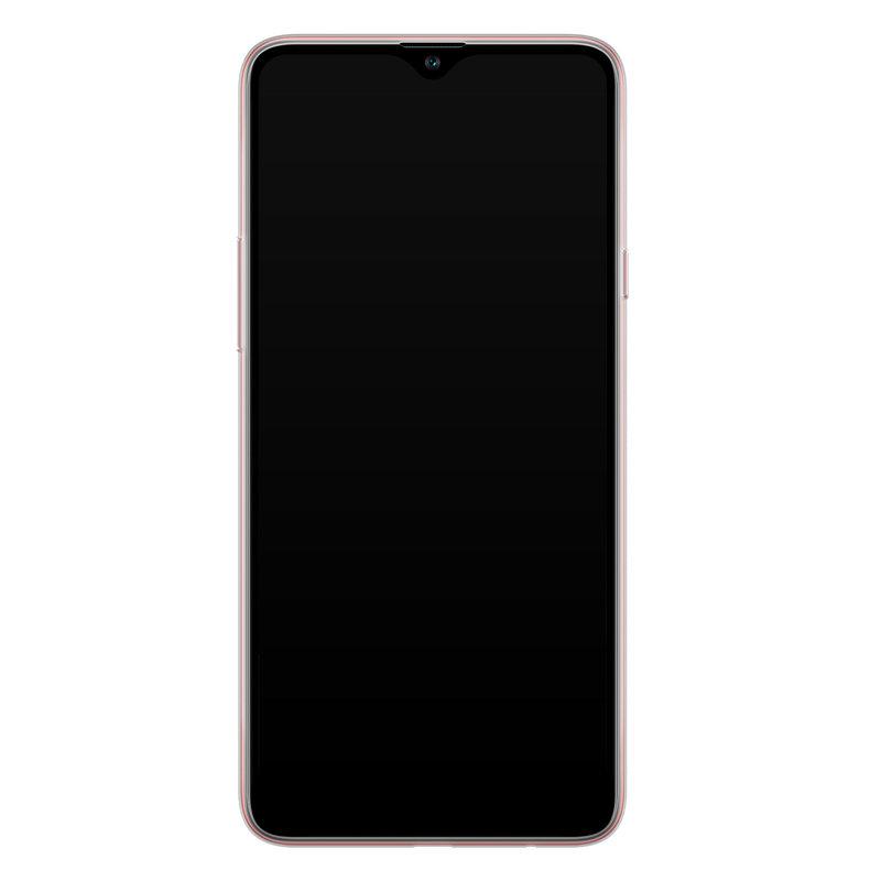 Casimoda Samsung Galaxy A20s siliconen telefoonhoesje - Parelmoer marmer