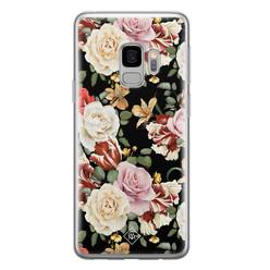 Casimoda Samsung Galaxy S9 siliconen hoesje - Flowerpower