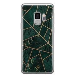Casimoda Samsung Galaxy S9 siliconen hoesje - Abstract groen