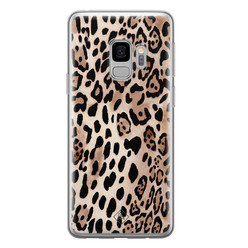 Casimoda Samsung Galaxy S9 siliconen hoesje - Golden wildcat