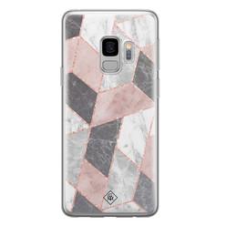 Casimoda Samsung Galaxy S9 siliconen hoesje - Stone grid