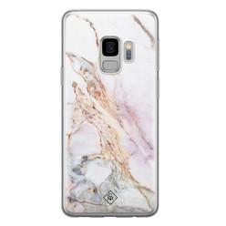 Casimoda Samsung Galaxy S9 siliconen hoesje - Parelmoer marmer