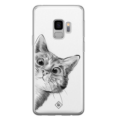 Casimoda Samsung Galaxy S9 siliconen hoesje - Peekaboo