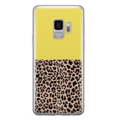 Casimoda Samsung Galaxy S9 siliconen hoesje - Luipaard geel