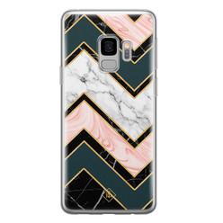 Casimoda Samsung Galaxy S9 siliconen hoesje - Marmer triangles