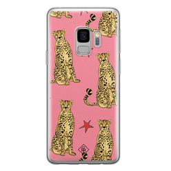 Casimoda Samsung Galaxy S9 siliconen hoesje - The pink leopard