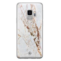 Casimoda Samsung Galaxy S9 siliconen hoesje - Marmer goud