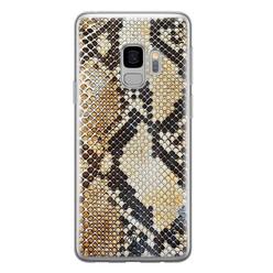 Casimoda Samsung Galaxy S9 siliconen hoesje - Golden snake