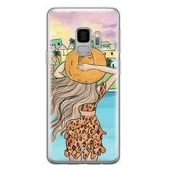 Casimoda Samsung Galaxy S9 siliconen hoesje - Sunset girl