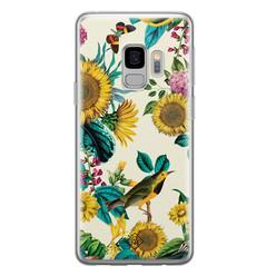 Casimoda Samsung Galaxy S9 siliconen hoesje - Sunflowers