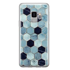 Casimoda Samsung Galaxy S9 siliconen hoesje - Blue cubes