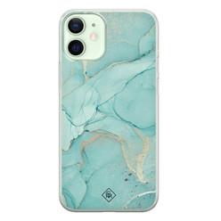 Casimoda iPhone 12 mini siliconen hoesje - Touch of mint
