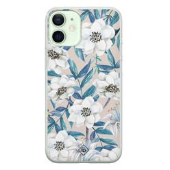 Casimoda iPhone 12 mini siliconen hoesje - Touch of flowers