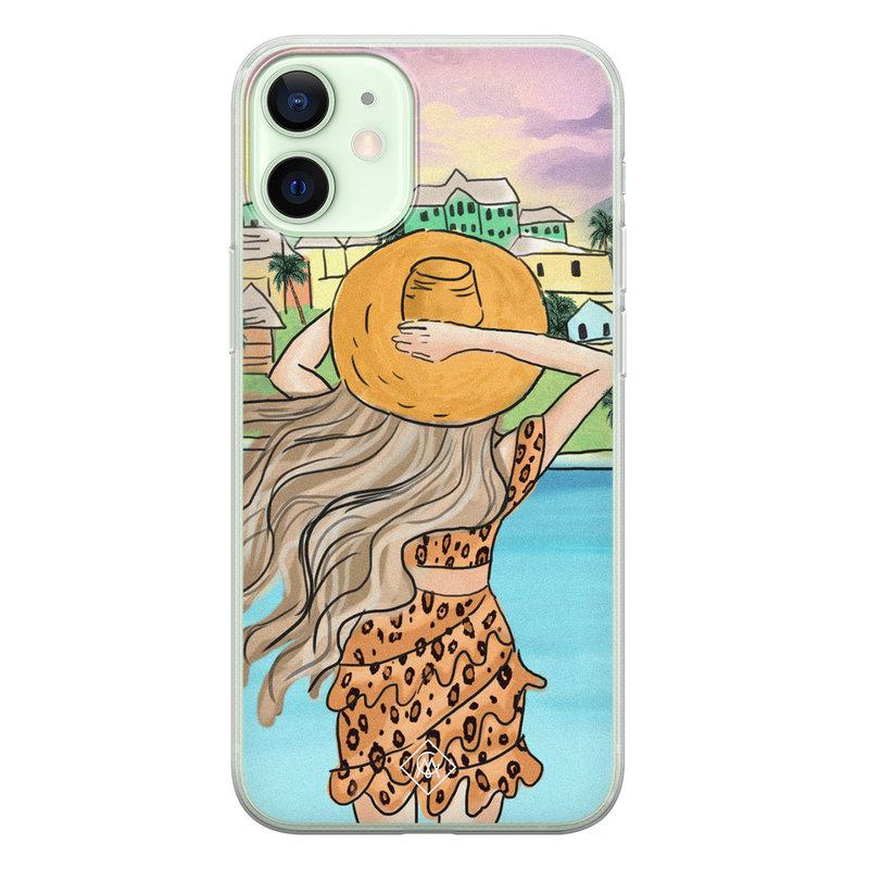 Casimoda iPhone 12 mini siliconen hoesje - Sunset girl