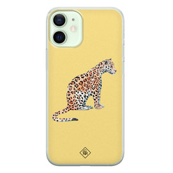 Casimoda iPhone 12 mini siliconen hoesje - Leo wild
