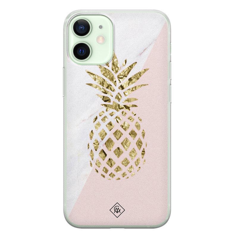 Casimoda iPhone 12 mini siliconen hoesje - Ananas