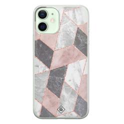 Casimoda iPhone 12 mini siliconen hoesje - Stone grid