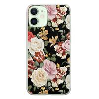 Casimoda iPhone 12 mini siliconen hoesje - Flowerpower