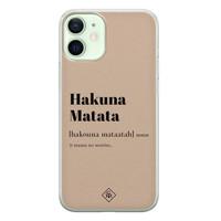 Casimoda iPhone 12 mini siliconen hoesje - Hakuna matata