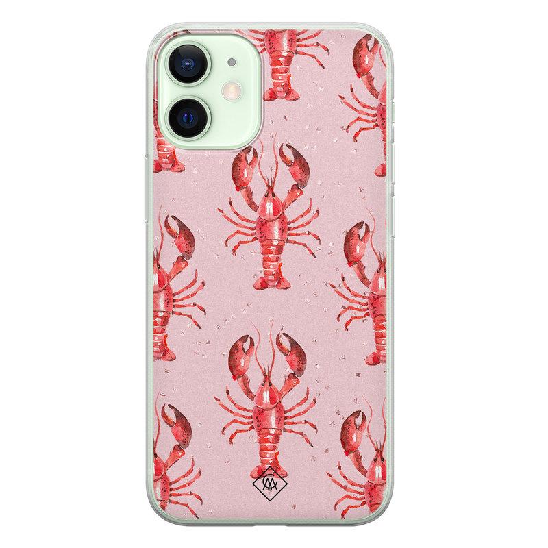 Casimoda iPhone 12 mini siliconen telefoonhoesje - Lobster all the way