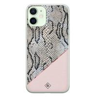 Casimoda iPhone 12 mini siliconen hoesje - Snake print