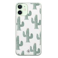 Casimoda iPhone 12 mini siliconen telefoonhoesje - Cactus print