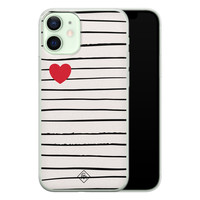 Casimoda iPhone 12 mini siliconen hoesje - Heart queen