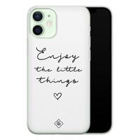 Casimoda iPhone 12 mini siliconen hoesje - Enjoy life