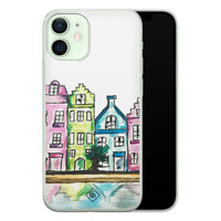 Casimoda iPhone 12 mini siliconen telefoonhoesje - Amsterdam
