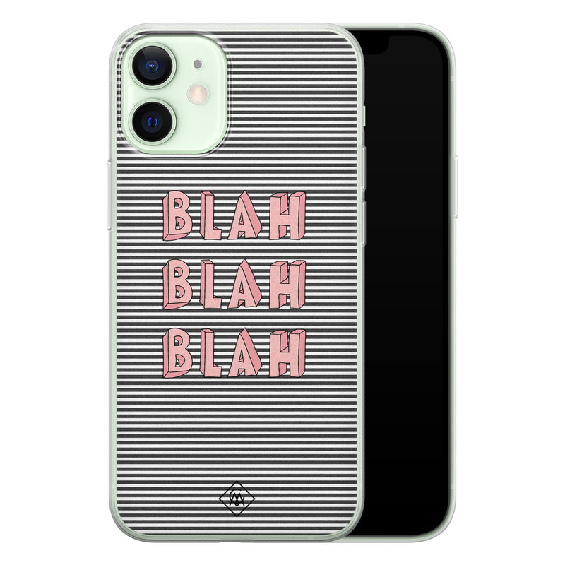 Casimoda iPhone 12 mini siliconen telefoonhoesje - Blah blah blah