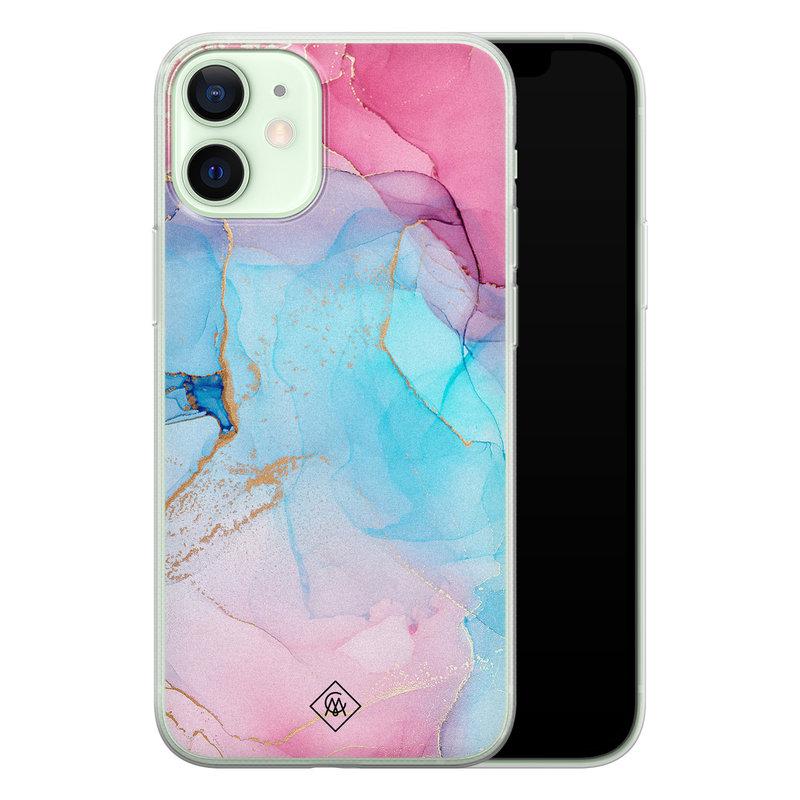 Casimoda iPhone 12 mini siliconen hoesje - Marble colorbomb