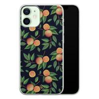 Casimoda iPhone 12 mini siliconen hoesje - Orange lemonade