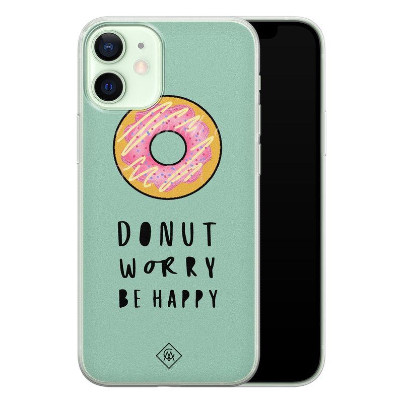 Casimoda iPhone 12 mini siliconen hoesje - Donut worry