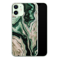 Casimoda iPhone 12 mini siliconen hoesje - Green waves