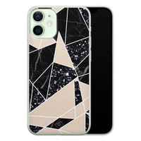 Casimoda iPhone 12 mini siliconen telefoonhoesje - Abstract painted