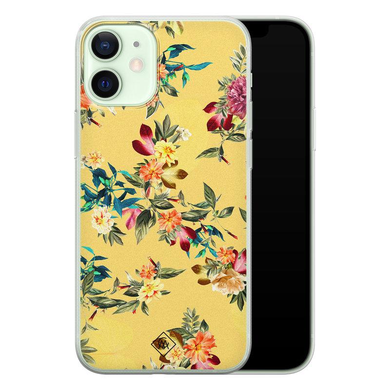 Casimoda iPhone 12 mini siliconen hoesje - Floral days