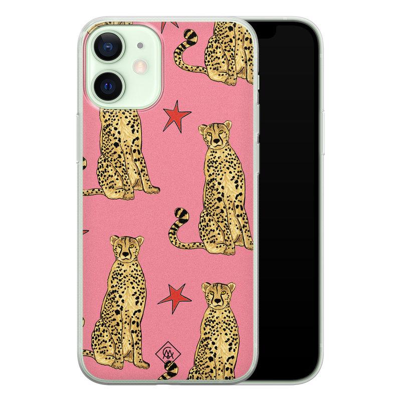 Casimoda iPhone 12 mini siliconen hoesje - The pink leopard