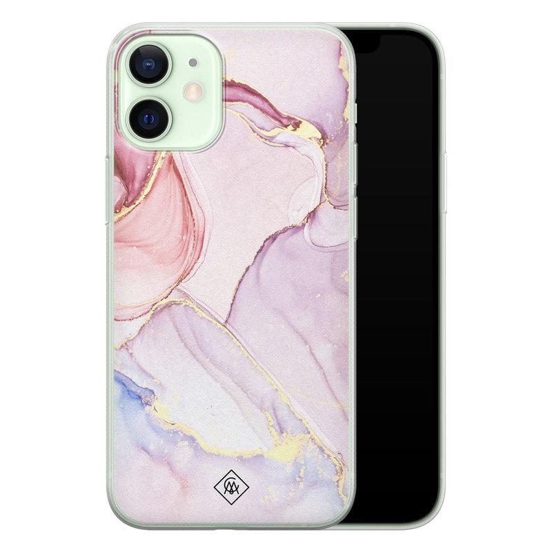 Casimoda iPhone 12 mini siliconen hoesje - Purple sky