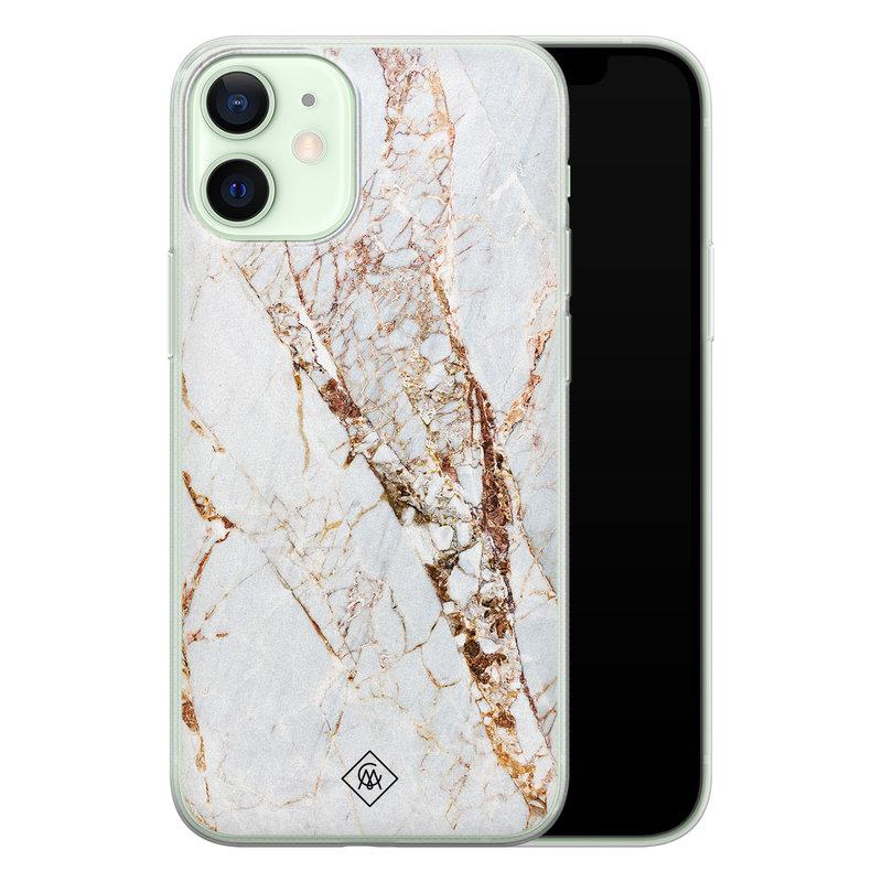 Casimoda iPhone 12 mini siliconen hoesje - Marmer goud