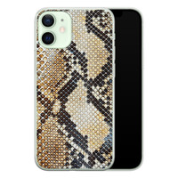 Casimoda iPhone 12 mini siliconen hoesje - Golden snake
