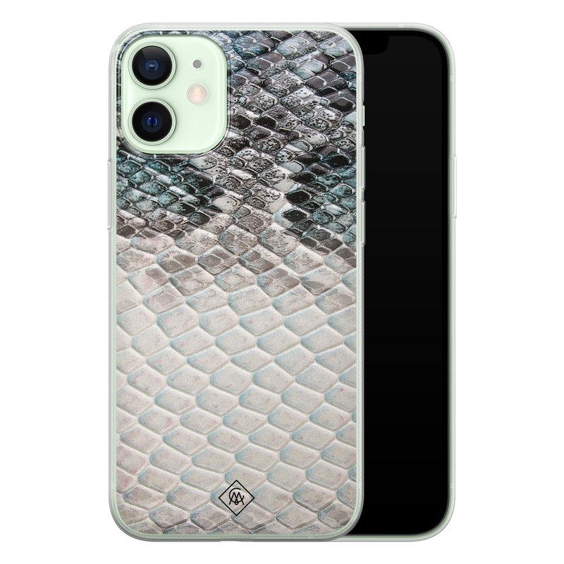 Casimoda iPhone 12 mini siliconen hoesje - Oh my snake