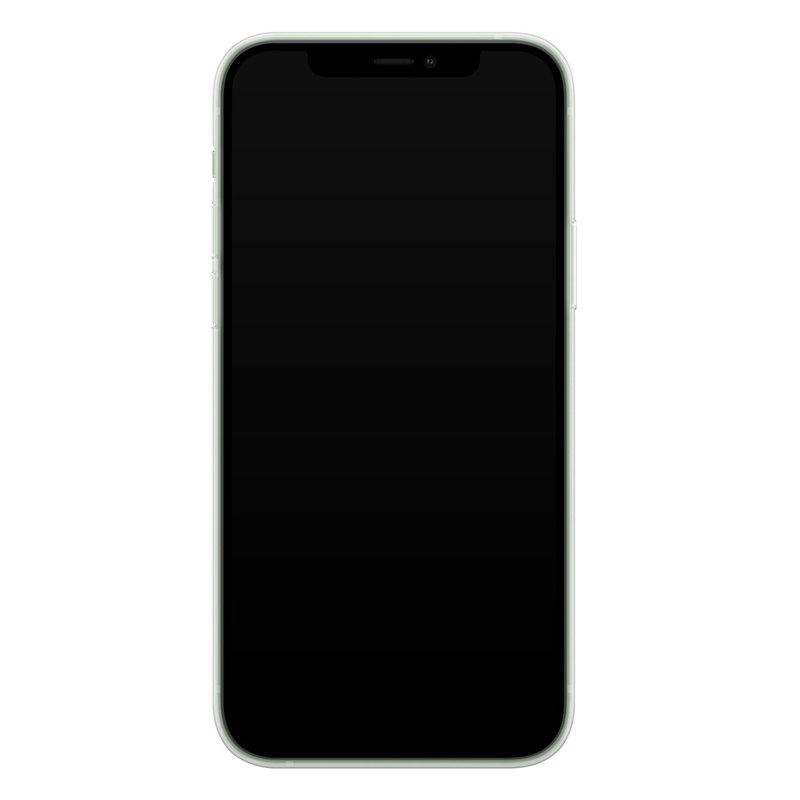 Casimoda iPhone 12 mini siliconen telefoonhoesje - Stone grid