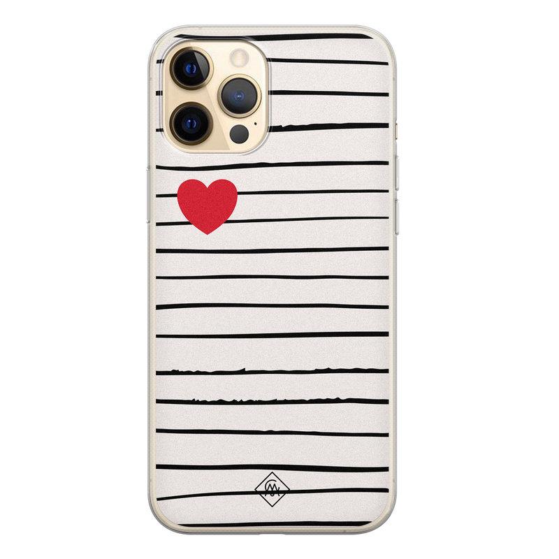Casimoda iPhone 12 Pro siliconen hoesje - Heart queen