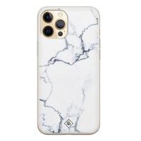Casimoda iPhone 12 Pro siliconen hoesje - Marmer grijs