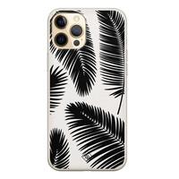 Casimoda iPhone 12 Pro siliconen telefoonhoesje - Palm leaves silhouette