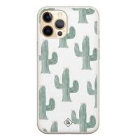Casimoda iPhone 12 Pro siliconen telefoonhoesje - Cactus print