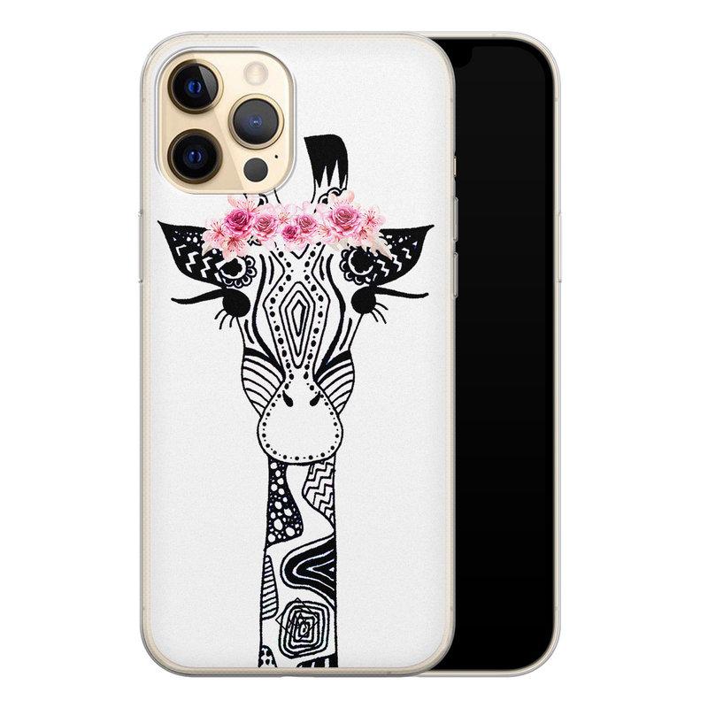 Casimoda iPhone 12 Pro siliconen telefoonhoesje - Giraffe