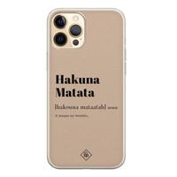Casimoda iPhone 12 Pro siliconen hoesje - Hakuna matata
