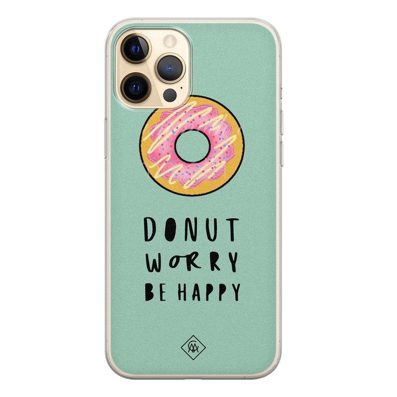 Casimoda iPhone 12 Pro siliconen hoesje - Donut worry